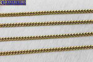 "Men's Modern 24.00"" 14K Yellow Gold 3mm Curb Cuban Link Chain Necklace 16.1gr"