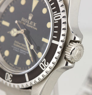 ORIGINAL 1966 Rolex Submariner 5512 GILT 4-LINE TWO COLOR 40mm Stainless Watch