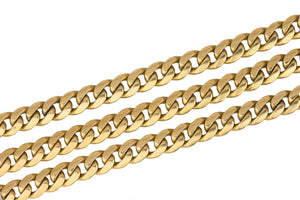 "Men's Vintage Solid 18K Yellow Gold 5mm Cuban Link Chain 23.25"" Necklace 48.7gr"