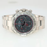PAPERS Rolex Daytona Chrono 116509 Black Racing Dial 18k White Gold Watch