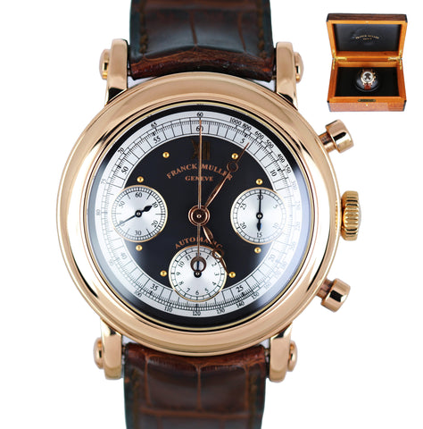 MINT Men's Franck Muller 7000 CC 39mm 18K Rose Gold Chronograph Automatic Watch
