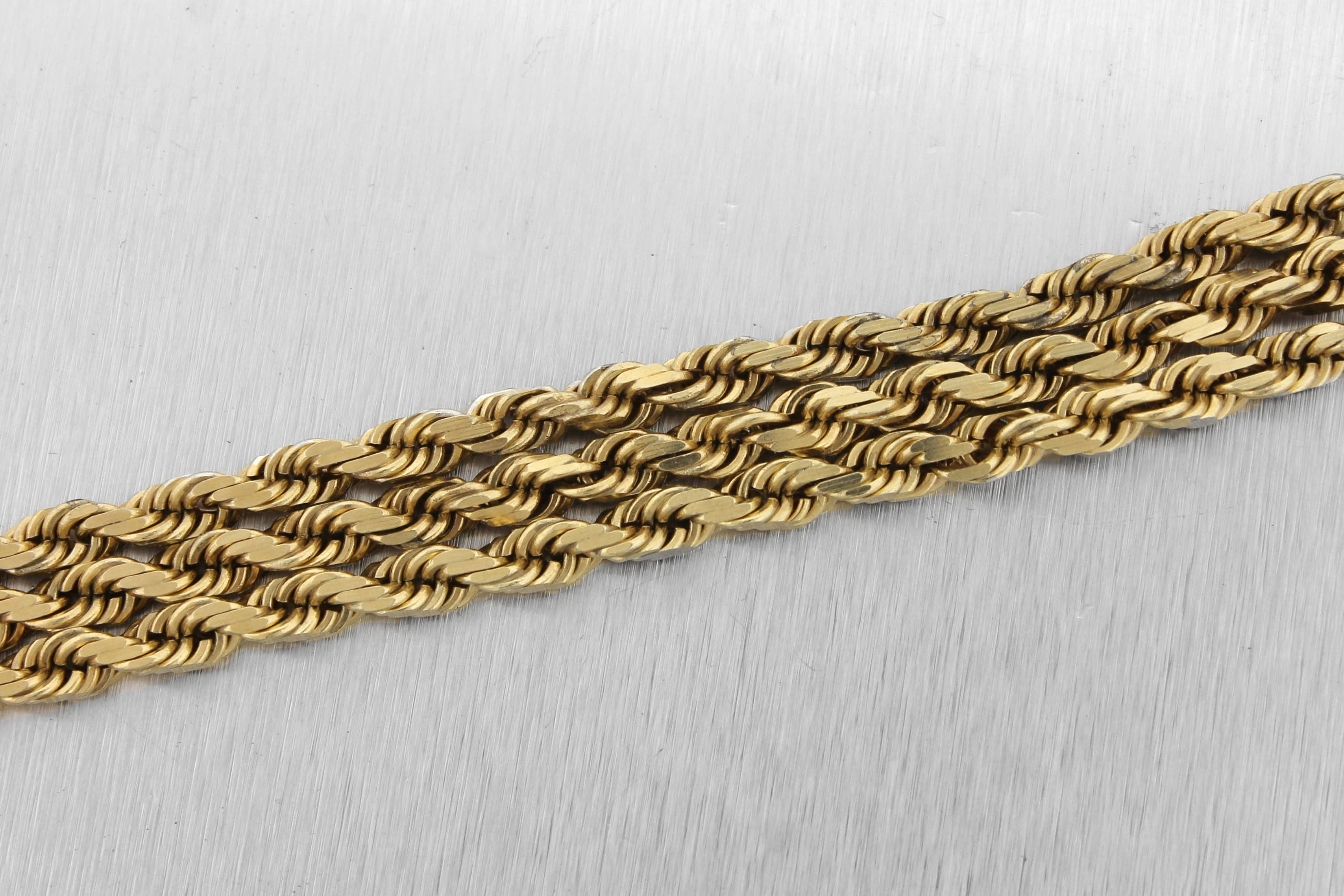 "Men's Modern Solid 14K Yellow Gold 5mm Rope Link Chain 26.50"" Necklace 67.4gr"