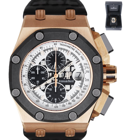 Audemars Piguet RUBENS BARRICHELLO Royal Oak Offshore Chrono 26078 18K Rose Gold