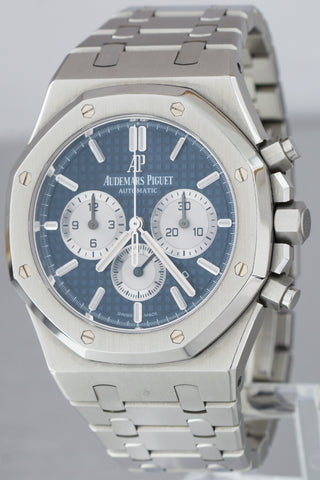 2017 Audemars Piguet Royal Oak Chronograph Blue Silver 41mm Stainless 26331 ST