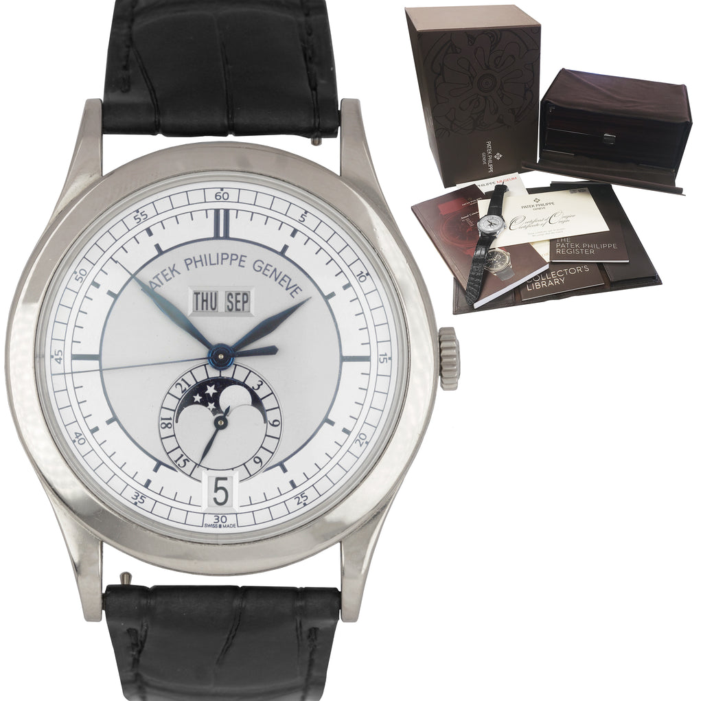 Patek Philippe Calatrava 18k White Gold Annual Calendar 38.5mm Watch 5396G-001