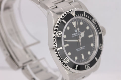 1999 Rolex Submariner No-Date 14060 U Swiss Dial Black Dive 40mm Steel Watch