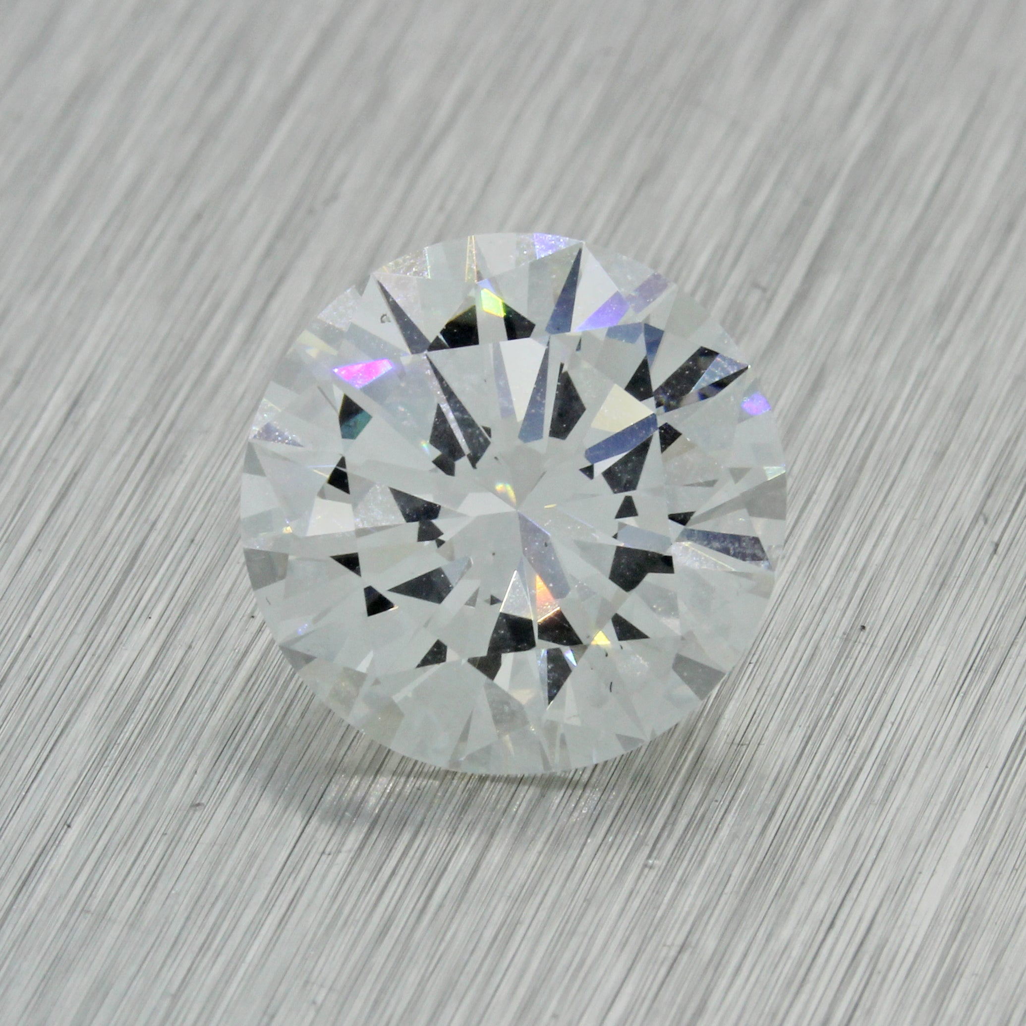 5.15ct GIA Certified Round Shape Brilliant Cut F SI1 Natural Modern Loose Diamond