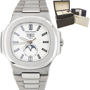 Patek Philippe NAUTILUS 40.5mm Annual Calendar Moonphase Watch 5726 / 1A-010 B+P