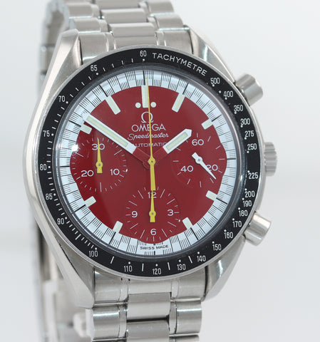 Omega Speedmaster Michael Schumacher Red Steel 39mm Chronograph Watch 3510.61.00