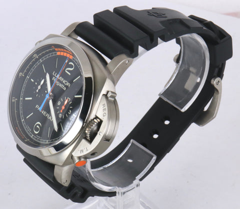 MINT Panerai Luminor Regatta Chrono Flyback Titanium PAM 526 47mm PAM00526 Black