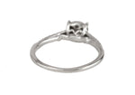 Women's Keepsake 925 Sterling Silver 0.42ctw Cluster Diamond Engagement Ring