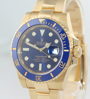 MINT 2018 PAPERS Rolex Sunburst Blue Ceramic 116618 18k Yellow Gold Watch Box
