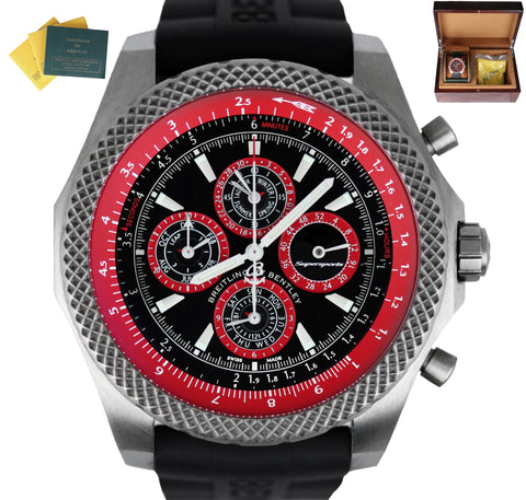 RARE Breitling Bentley Perpetual Supersports Lightbody E29364 Titanium Red 49mm