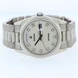 FACTORY Diamond White Gold Rolex Day-Date President 18239 18K Watch 118239 N8