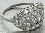1920s Antique Art Deco Platinum Marquise 1.00ct Diamond Cluster Cocktail Ring