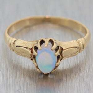 1880's Antique Victorian 14k Yellow Gold 0.50ct Opal Ring