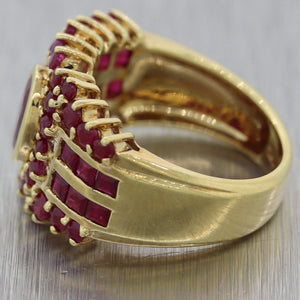 Vintage Estate 14k Yellow Gold 2.25ctw Ruby Ring