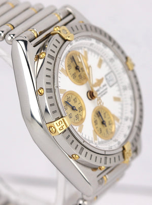 Breitling Chronomat 40mm Stainless Steel Gold White B13350 Chronograph Watch