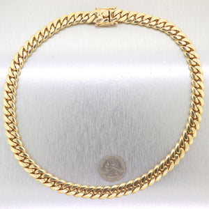 "Men's Chain 247.3g Heavy 14k Yellow Gold VIP Miami Cuban Link 21.5"" Necklace"