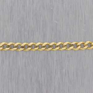"Men's Chain 13.7g 14k Yellow Gold Cuban Curb Link 30"" Necklace"