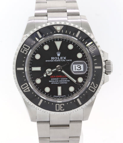 2017 Rolex Sea-Dweller Red SD43 Black Ceramic 126600 Steel Dive 43mm Watch BP A8
