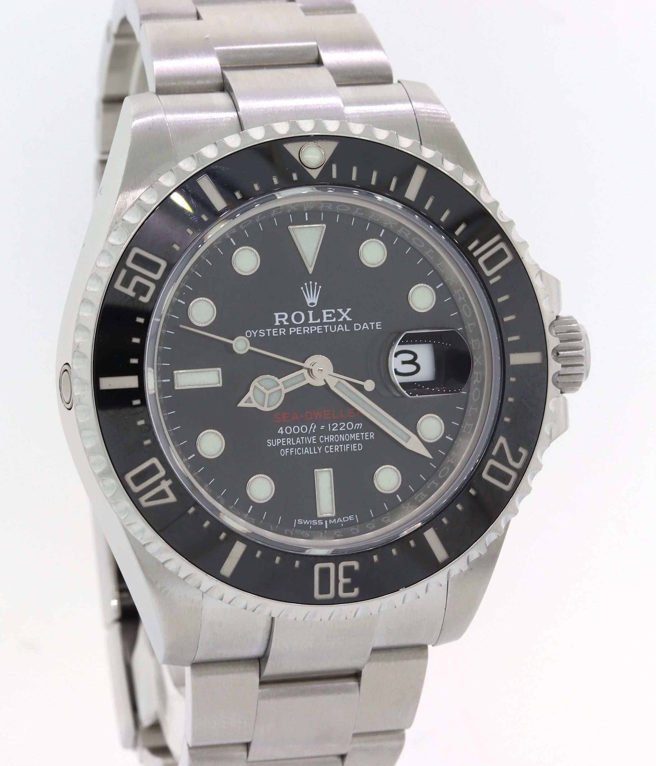 MINT 2018 MK1 Rolex Sea-Dweller Red SD43 Black Ceramic 126600 Steel Dive 43mm