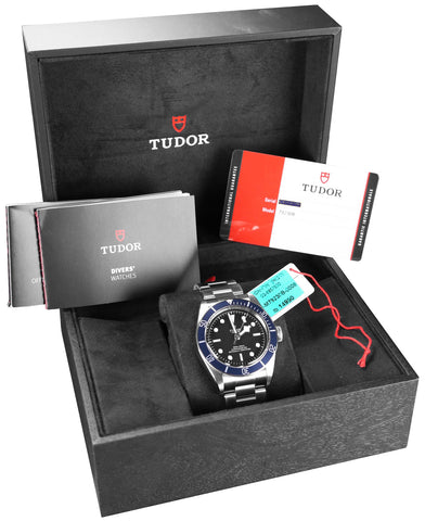 BRAND NEW Tudor Heritage Black Bay 79230B Stainless Steel Blue 41mm Dive Watch