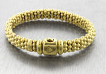Ladies Genuine Lagos 18K 750 Yellow Gold Beaded Caviar Box Clasp Bracelet  38.8g