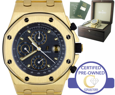 Audemars Piguet Royal Oak Offshore Yellow Gold Blue 42mm 25721BA.OO.1000BA.02.A