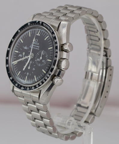 Vintage 1984 Omega Speedmaster Black 42mm PATINA 145.022 Stainless Steel Watch