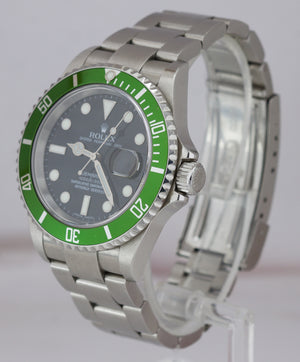 2006 UNPOLISHED Rolex Submariner Date Green KERMIT D 50th Anniversary 16610 LV