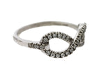 Lovely Ladies EFFY 925 Sterling Silver 0.33ctw Diamond Infinity Promise Ring