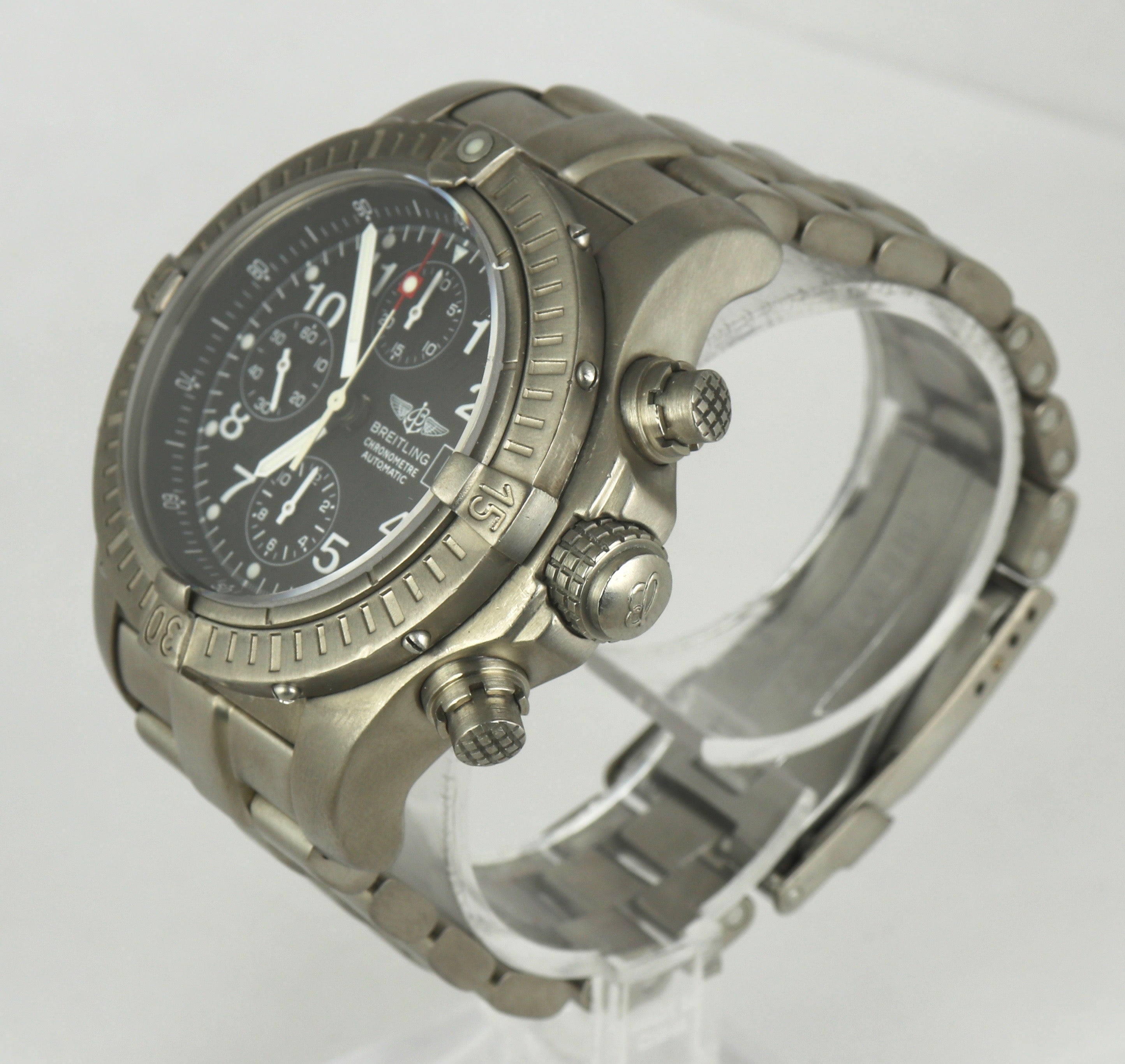 MINT Breitling Chrono Avenger E13360 Chronograph Titanium Automatic 44mm Black