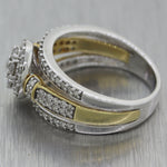 Zales 10k White & Yellow Gold 1ctw Diamond Cluster Ring