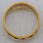 1890's Antique Victorian 18k Yellow Gold 0.15ctw Diamond Wedding Band Ring
