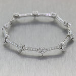 Modern 14k White Gold 2.75ctw Diamond Star Tennis Bracelet