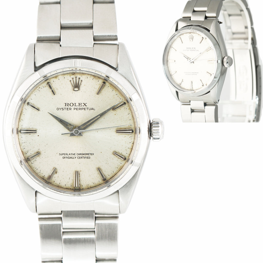Vintage Rolex Oyster Perpetual 1003 Steel 34mm Watch