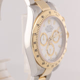 2015 RANDOM SERIAL Rolex Daytona 116523 White Steel 18k Gold Two Tone Watch w/ Box D8