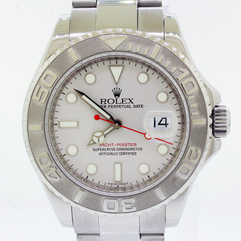 Rolex 16622 Yacht-Master 40mm Platinum Dial Stainless Steel Z Serial Watch