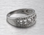 Lovely Ladies Vintage Estate 14K White Gold 0.36ctw Diamond Cocktail Ring