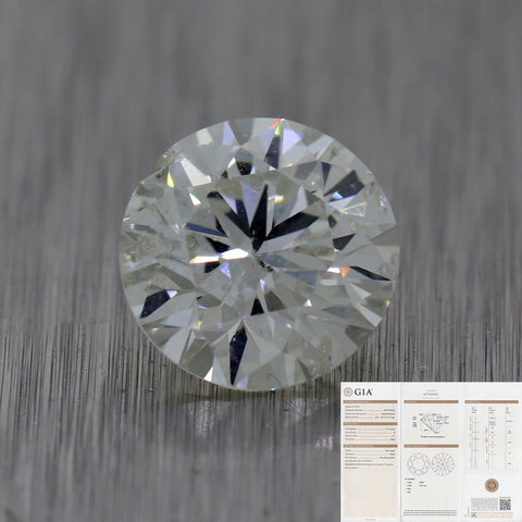 2.12ct GIA Round Shape Brilliant Cut H I1 Natural Modern Loose Diamond