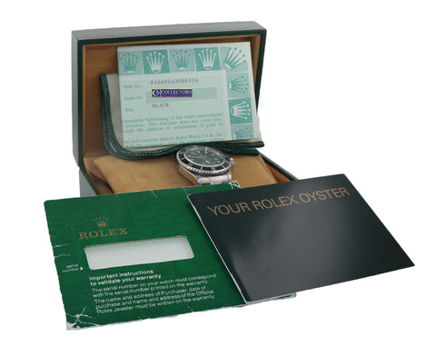 PAPERS MINT Rolex Sea-Dweller Steel 16600 Black Dial Date 40mm Watch Box