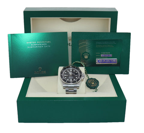 PAPERS BRAND NEW 2020 Rolex Submariner 116610 Steel Black Dial Ceramic Watch