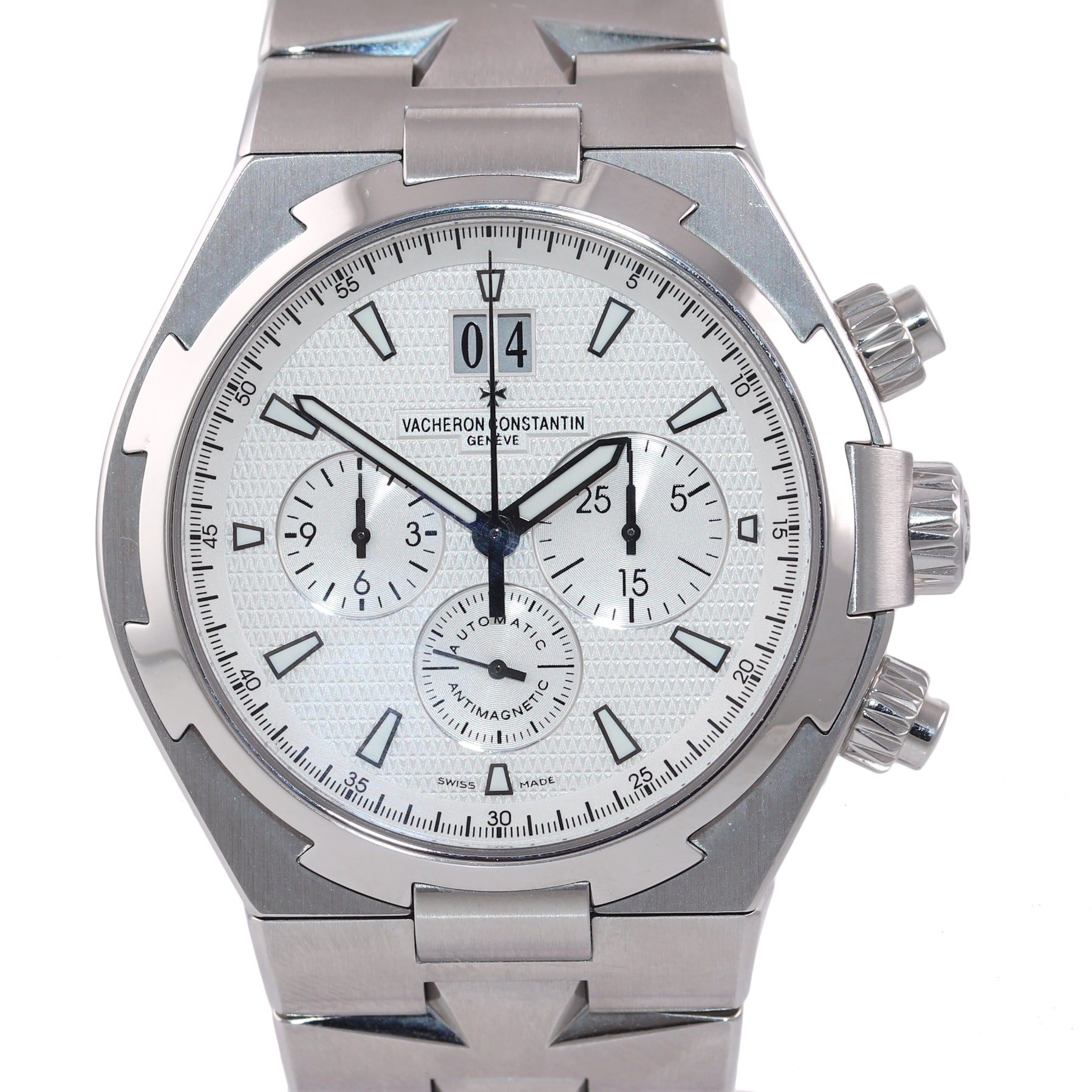 Vacheron Constantin Overseas 49150 42mm Stainless Steel Chronograph Date Watch