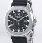 Patek Philippe Steel Aquanaut Black Rubber Tropical JUMBO 5065 38mm Watch