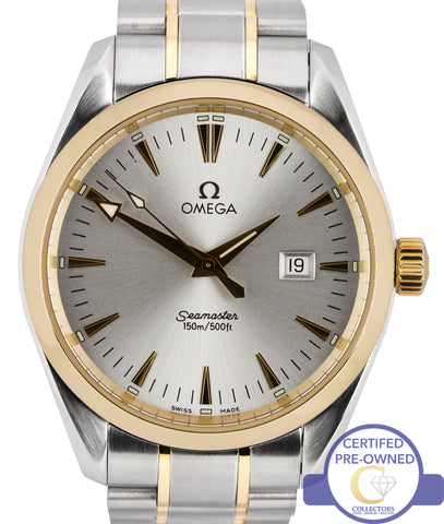 Omega Seamaster Aqua Terra Two Tone Steel Gold 39.2mm Quartz Date Watch 2317.30