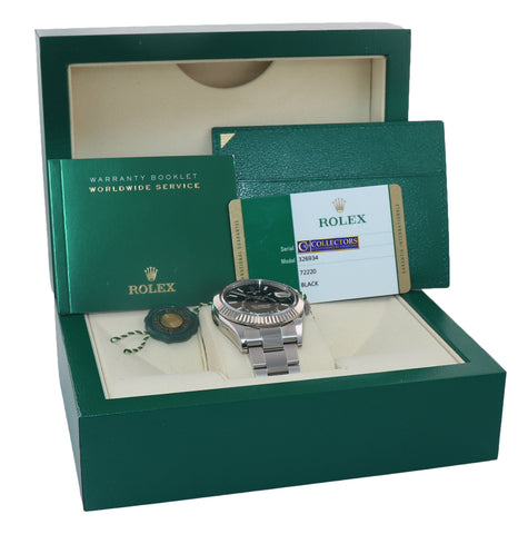 MINT PAPERS Rolex Sky-Dweller Black Dial White Gold Fluted 42mm 326934 Watch Box