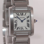 PAPERS Ladies Cartier Tank Française Steel Roman Quartz 3217 W51008Q3 Watch Box