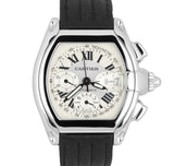 MINT Cartier Roadster XL Chrono Stainless Silver Chronograph Watch 2618 W62019X6