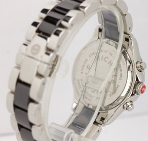 Ladies Michele Tahitian Diamond Ceramic 35mm Chronograph Watch MWW12C000003